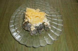 Салат с грибами, сыром и ананасами «Бонапарт» (пошаговый фото рецепт)