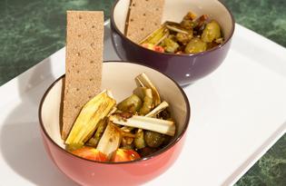 Баклажаны с фенхелем и чесноком (пошаговый фото рецепт)