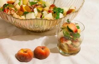 Фруктовый салат с коньяком и мёдом (пошаговый фото рецепт)