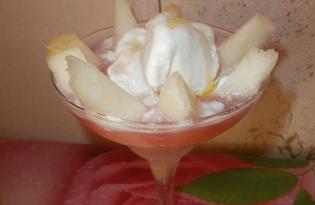 Мороженое с дыней и клубничной настойкой (пошаговый фото рецепт)