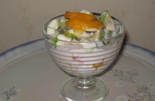 Фруктовый салат с йогуртом и мёдом (пошаговый фото рецепт)