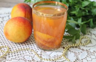 Персиковый компот со сливами (пошаговый фото рецепт)