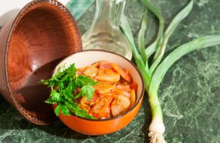 Тёплый салат из розовой свеклы (пошаговый фото рецепт)