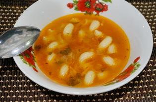 Томатный суп с макаронами (пошаговый фото рецепт)