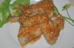 Крылышки тушёные в сливочном соусе (пошаговый фото рецепт)