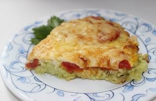 Кабачковая пицца с помидорами (пошаговый фото рецепт)