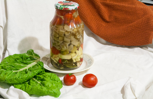 Ассорти - маринад с мангольдом (пошаговый фото рецепт)