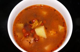 Фасолевый суп с фрикадельками и пряными травами (пошаговый фото рецепт)