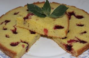 Простой вишневый пирог (пошаговый фото рецепт)