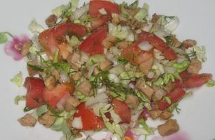 Салат со свининой и овощами (пошаговый фото рецепт)