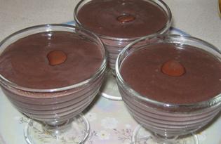 Крем заварной шоколадный (пошаговый фото рецепт)