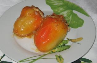 Болгарский перец фаршированный мясом (пошаговый фото рецепт)