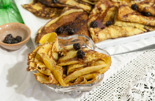 Блины со сладкой начинкой (пошаговый фото рецепт)