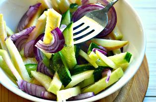Яблочный салат с овощами (пошаговый фото рецепт)