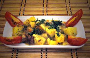 Картофель с кабачком и тушенкой (пошаговый фото рецепт)