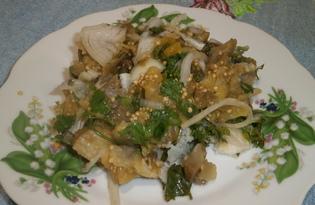 Салат из вареных баклажанов (пошаговый фото рецепт)
