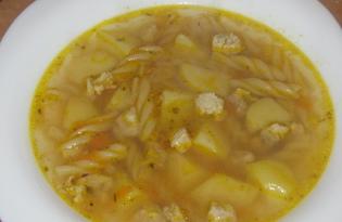 Cуп с макаронами и свининой (пошаговый фото рецепт)