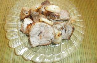 Свиной шашлык в кефире на мангале (пошаговый фото рецепт)