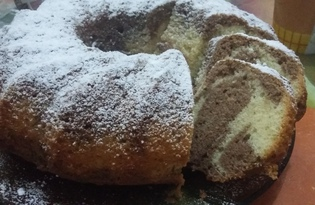 Кекс на сливках и майонезе (пошаговый фото рецепт)