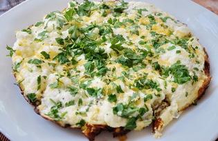 Омлет с грибами и луком (пошаговый фото рецепт)