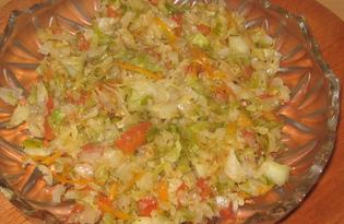 Капуста с помидорами тушеная (пошаговый фото рецепт)