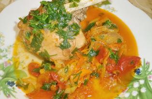 Кролик тушеный с овощами (пошаговый фото рецепт)