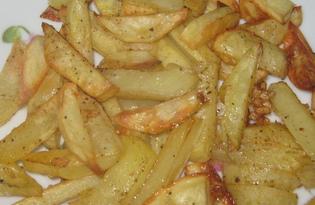 Картофель фри в духовке (пошаговый фото рецепт)