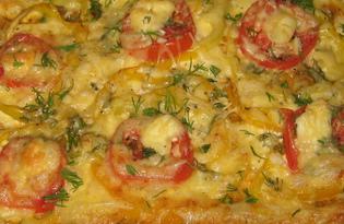 Пицца из слоеного теста с сыром (пошаговый фото рецепт)