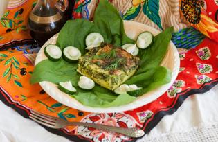 Омлет из гусиных яиц с зеленью и паниром (пошаговый фото рецепт)
