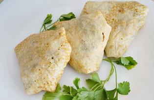 Блинчики с курицей и грибами в сливочном соусе (пошаговый фото рецепт)