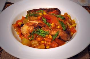 Курица по-мексикански с овощами (пошаговый фото рецепт)
