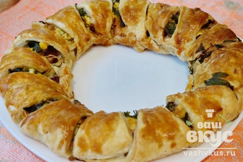 Пироги с колбасой рецепт пошаговый 50
