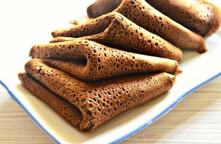 Блины с какао и кофе (пошаговый фото рецепт)