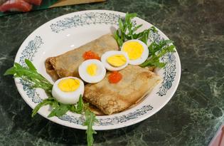 Блины с начинкой суши (пошаговый фото рецепт)