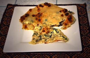 Хычины с сыром и зеленью (пошаговый фото рецепт)