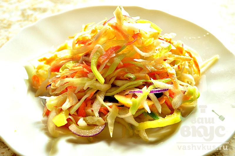 рецепт салата с редькой и