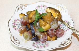 Сладкий салат из винограда и слив (пошаговый фото рецепт)