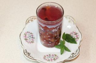Виноградно - сливовый компот (пошаговый фото рецепт)