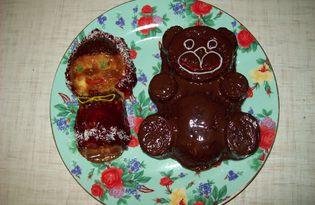 """Детские кексы """"Сладкая парочка"""" (пошаговый фото рецепт)"""