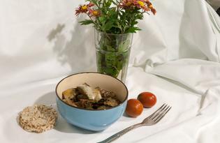 Белые баклажаны, жаренные с чесноком (пошаговый фото рецепт)