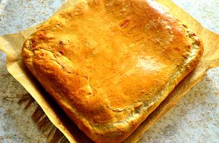 Пирог с капустой и грибами (пошаговый фото рецепт)