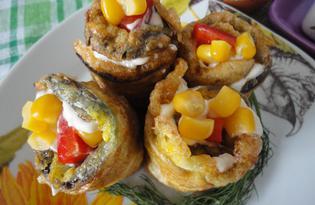 Вкусные рульки из баклажана (пошаговый фото рецепт)
