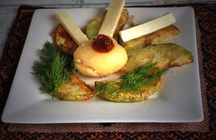 Кабачки жареные с картофелем в мундире (пошаговый фото рецепт)