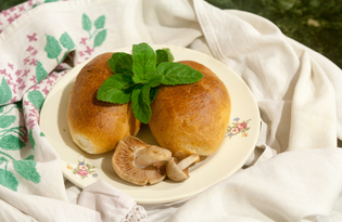 Пирожки с шампиньонами и фасолью (пошаговый фото рецепт)