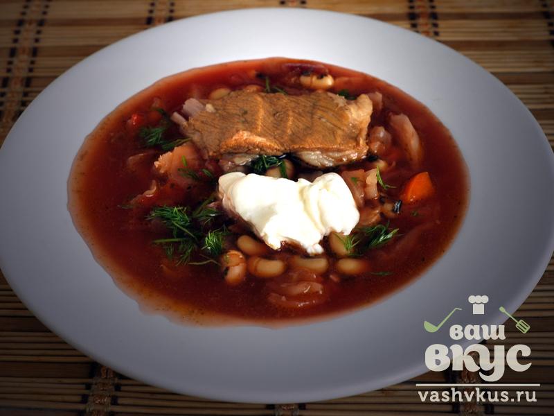 суп на свином бульоне рецепт с фасолью