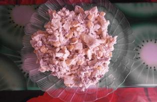 Салат «Печеночное наслаждение» с маринованным луком (пошаговый фото рецепт)