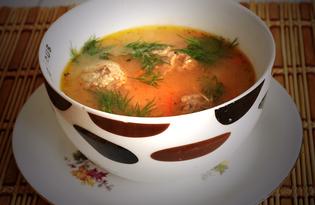 Рисовый суп с фрикадельками и сладким перцем (пошаговый фото рецепт)