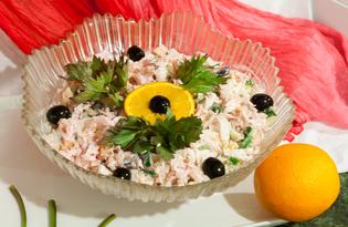 Салат с пекинской капустой, апельсином, сыром и острой сметанной заправкой (пошаговый фото рецепт)