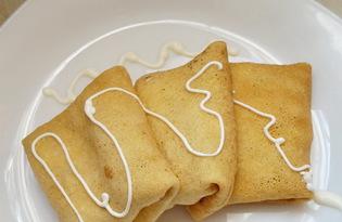 Блинчики с сыром и колбасой (пошаговый фото рецепт)