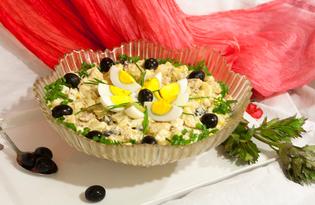 Салат с сайрой и картофелем (пошаговый фото рецепт)